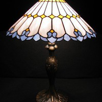 ART NOUVEAU TABLE LAMP | BrightandBeautiful - Glass on ArtFire