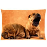 "Amazon.com: Cute Puppy Pillowcase Covers Standard Size 20""x30"" CC4378: Home & Kitchen"