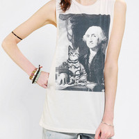 Urban Outfitters - Corner Shop Washington Cat Muscle Tee