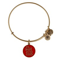 Alex and Ani Red St. Louis Cardinals™ Cap Logo Charm Bangle - Russian Gold