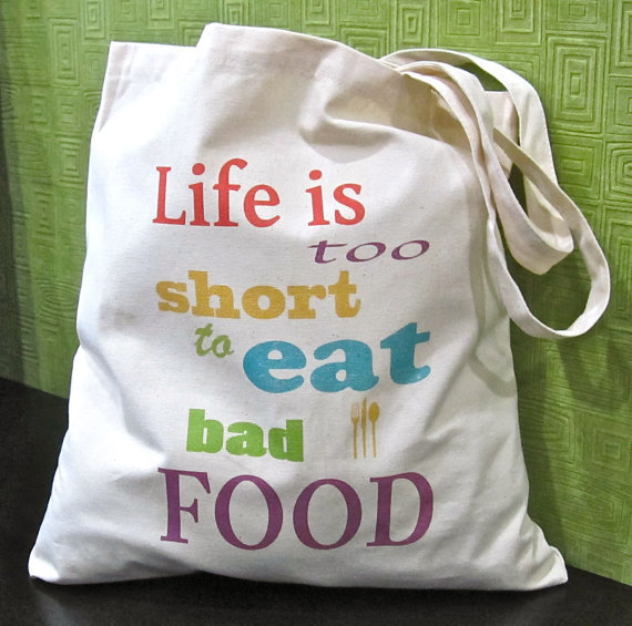 Life is Too Short to Eat Bad Food Canvas by SarahSchmidDesigns