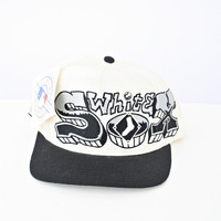 vintage 90s CHICAGO white SOX GRAFFITI snapback hat