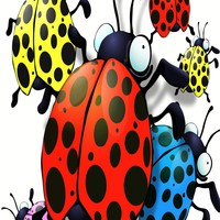 Hatched Egg'rs Ladybug Wall Sticker (Set of 6) - 20007 - All Wall Art - Wall Art & Coverings - Decor