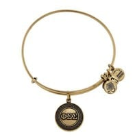 Alex and Ani Phi Sigma Sigma Charm Bangle - Russian Gold