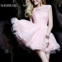 Sherri Hill 21217 Lace Short Cocktail Dress