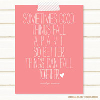 Better Things Quote Poster 85x11 Print by thisgirlgabbie on Etsy