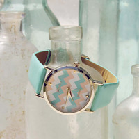Sweet Chevrons Watch in Mint, Women's Sweet Bohemian Jewelry
