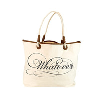 Whatever Canvas Tote Bag - Unique Vintage - Prom dresses, retro dresses, retro swimsuits.