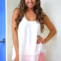 Island Time Tank: Crisp White | Hope's