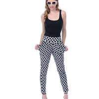 White & Black Dot Harem Pants - Unique Vintage - Prom dresses, retro dresses, retro swimsuits.