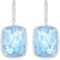 "Dana Rebecca Designs ""Allison Joy"" Carved Blue Topaz Earrings"