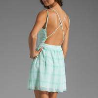 Dolce Vita Hanni Soft Plaid Tank Dress in Mint from REVOLVEclothing.com