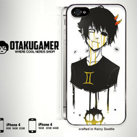 Custom Black Homestuck iPhone 4 iPhone 4s Case