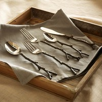 Twig Flatware 5-pc. Place Setting - Brass