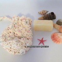 #Crochet Soap Saver Spa Set Handmade Lemongrass Lavender Soap by MoomettesCrochet