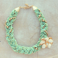 Pree Brulee - Mint Athena Necklace