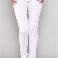 Skinny Leg White Denim Jeans