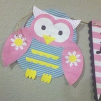 Welcome Home Owl Banner by themodpurplecow on Etsy
