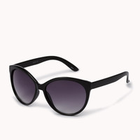 F0043 Oversized Cat-Eye Sunglasses