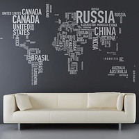 a different world wall sticker by sunny side up | notonthehighstreet.com