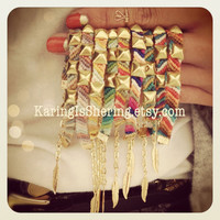 Diagonal Studded Friendship Bracelets