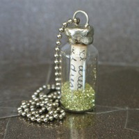 message in a bottle sterling soldered necklace | liveoutlouddesigns - Jewelry on ArtFire