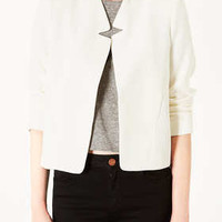Crepe Notch Neck Jacket - New In This Week  - New In