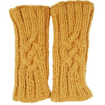Amazon.com: Sillly Yogi Cable knit armwarmer-Camel-Ones size: Clothing