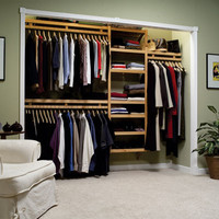 Standard Wood Closet System - Honey Maple