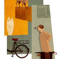 Mon Oncle Art Print by Andrew Lyons
