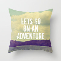 Let's Go  Throw Pillow by Rachel Burbee