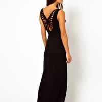 ASOS Cross Knot Back Jersey maxi Beach Dress