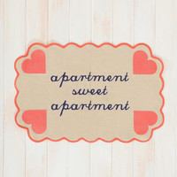 Plum & Bow Apartment Sweet Apartment Handmade Mat- Multi 2X3