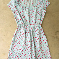 Ruffled Floral Print Dress [3891] - $32.00 : Vintage Inspired Clothing & Affordable Summer Frocks, deloom | Modern. Vintage. Crafted.