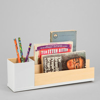 Urban Outfitters - Wood & Metal Desktop Organizer