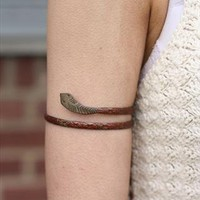 1960's Brass Snake Arm Cuff from Bohemianrose vintage