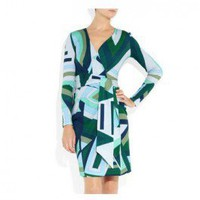 Emilio Pucci Oval Mini Dress In Geometry Print - Pucci Sleeve/Knee Dress