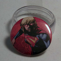 "Comic Book 1.5"" Button// Supergirl"