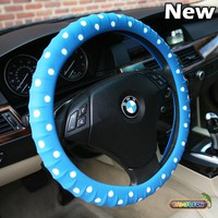 Blue Car Silicone Steering Wheel Cover- Limited Edition! By Cameleon Polka Dot!