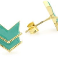 "Brandy Pham ""Arrows & Moons"" Chevron Earrings"