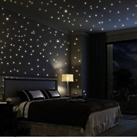 The moon Beautiful Faery in the Dark Stars and Stick Wall Decals