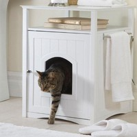 Merry Pet Products-Cat Washroom And Night Stand