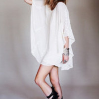Free People Pointed Cape Dress