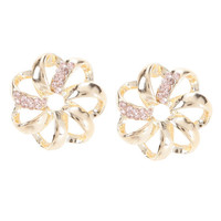 Payless, Women's Rhinestone Flower Stud Earring, Women's