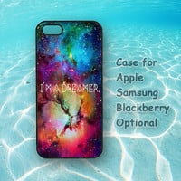 Dreamer in Galaxy for iphone 5 case, iphone 4 case, ipod 5 / 4 case,Samsung galaxy S4 / S3 / note 2 case, blackberry Z10 / Q10 case