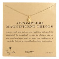 Dogeared 'Accomplish Magnificent Things' Pendant Necklace | Nordstrom