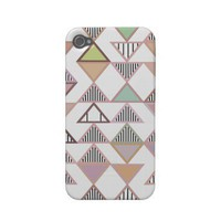 Pastel Triangles Pattern iPhone 4/4S Case-Mate Iphone 4 Covers from Zazzle.com