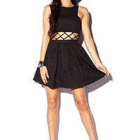 Fit & Flare Caged Dress | FOREVER 21 - 2040495431