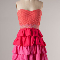 Bouquet Party Dress: Pink [74-ID10383] - $44.99 : Spotted Moth, Chic and sweet clothing and accessories for women