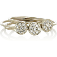 Jennifer Meyer | Set of three 18-karat white gold diamond stacking rings | NET-A-PORTER.COM